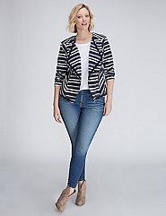 Striped Flyaway Jacket