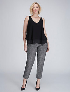 The Modernist Lena Crosshatch Ankle Pant