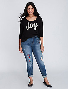 Joy Long-Sleeve Graphic Tee