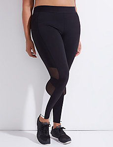 Wicking Spliced Active Legging with Mesh