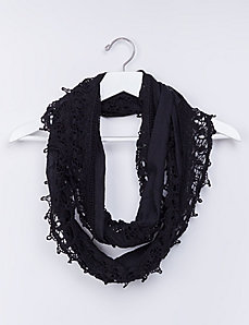 Eternity Scarf with Crochet Trim