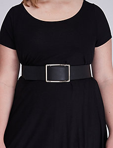 Wide Stretch Belt with Rectangular Slider