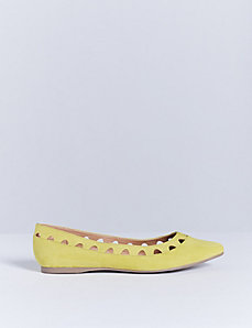 Faux Suede Pointed-Toe Flat