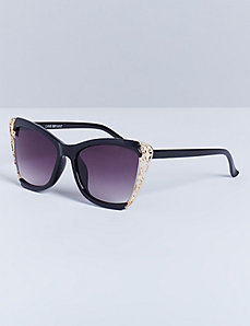 Cateye Sunglasses with Filigree Details