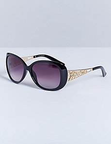 Classic Sunglasses with Filigree Details
