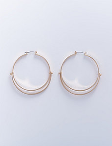 Flat Layered Hoop Earrings