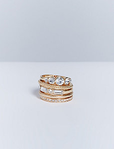 5-Stack Ring Set with CZ