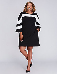 Striped Top Swing Dress by Gabby Skye