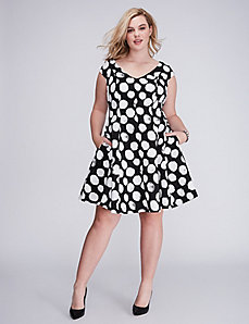 Polka Dot Fit & Flare Dress by Julia Jordan