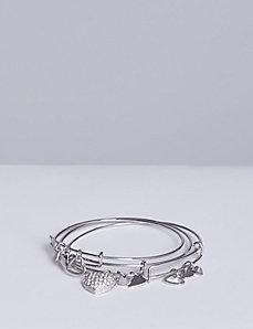 3-Row Charm Bracelet Set