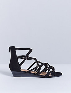 Criss-Cross Sandal with Wedge Heel