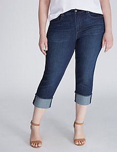 Wide-Cuff Denim Crop by Melissa McCarthy Seven7
