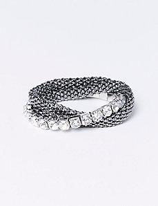 3-Row Stretch Bracelet with CZ