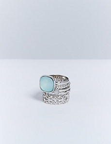 Silver 5-Stack Statement Rings