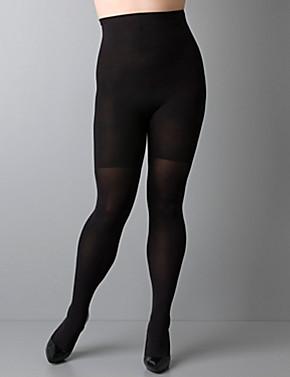 High-waisted full-length pantyhose spanx