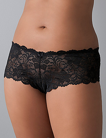 Plus size Low rise lace cheeky panty