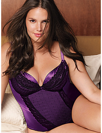 Satin & lace corset by Cacique