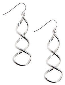 Corkscrew earrings by Lane Bryant