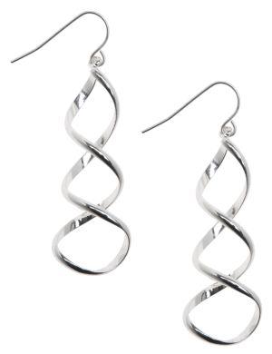 Corkscrew earrings by Lane Bryant