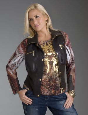Bomber vest by Lane Bryant