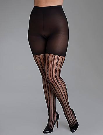 Plus size Spanx Chain Stripe Tight-End Tights