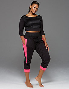 Jogger with high waist control band by Sophie Theallet