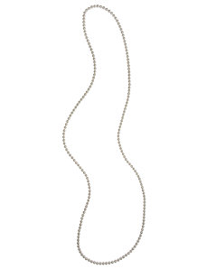 "60"" faux pearl necklace"