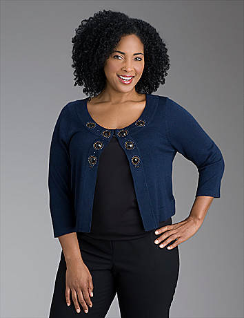 Embellished cardigan by Lane Bryant