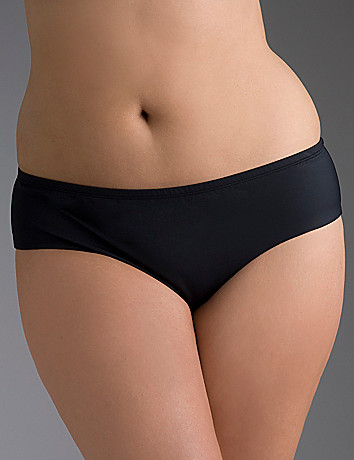 Plus size Black hipster swim bottom