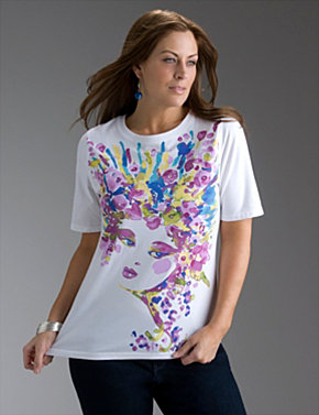 Short sleeve Floral Print Tee
