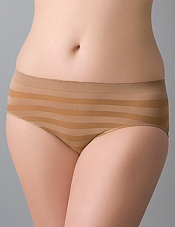 Plus size Shadow stripe hipster panty