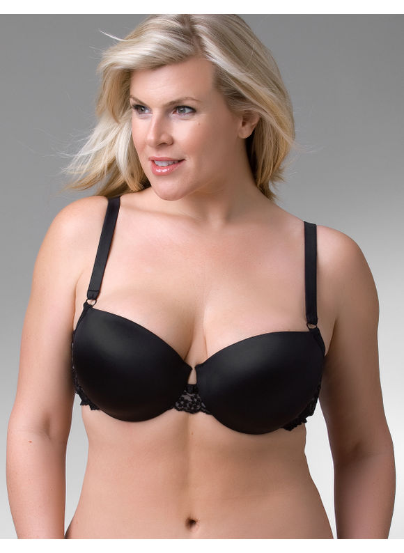 Lane Bryant Push up demi bra - Women's Plus Size/Black - Size 44DDD