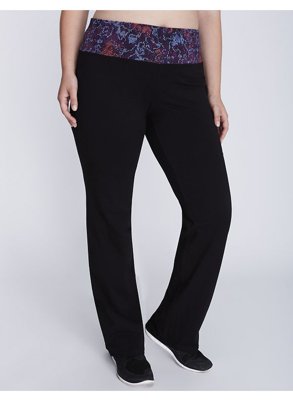 Lane Bryant Plus Size Printed waistband yoga pant,  Women' Size: 14/16 plus size,  plus size fashion plus size appare