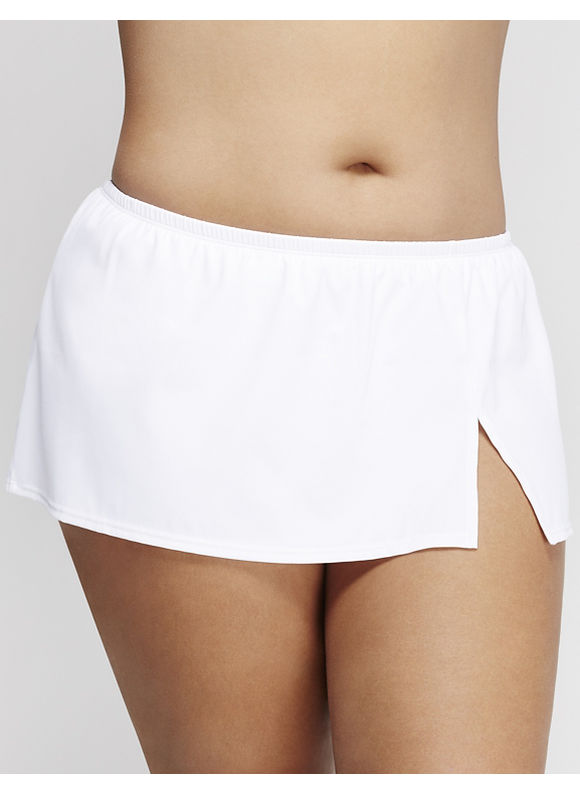 Cacique Plus Size Flirty swim skirt,  Women' Size: 26,  White plus size,  plus size fashion plus size appare