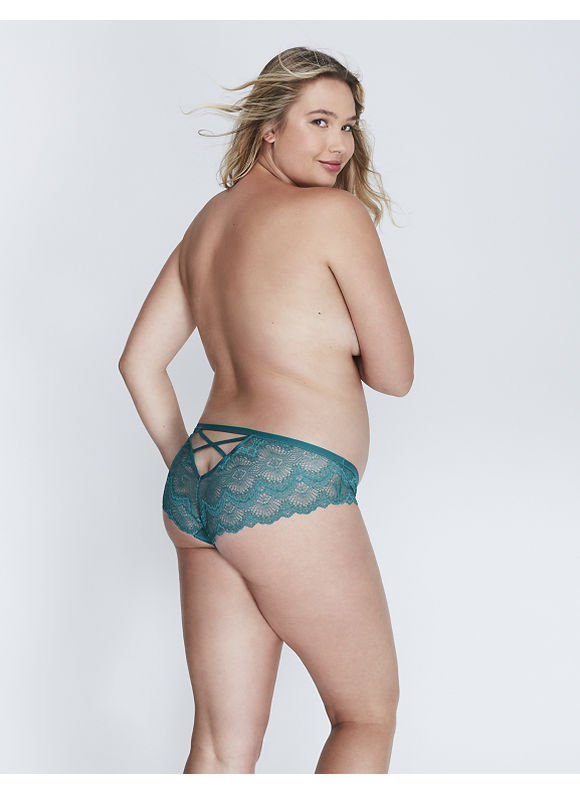 Lane Bryant Plus Size Lace Cheeky Panty with Strappy Back,  Women' Size: 18/20,  Shaded Spruce plus size,  plus size fashion plus size appare