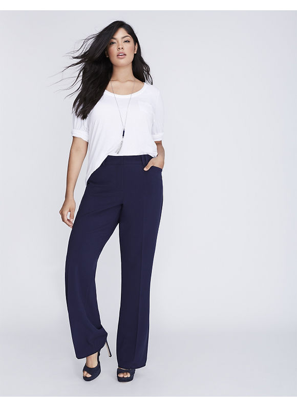 Lane Bryant Plus Size Sophie trouser with Tighter Tummy Technology,  Women' Size: 26,  Navy Blue plus size,  plus size fashion plus size appare