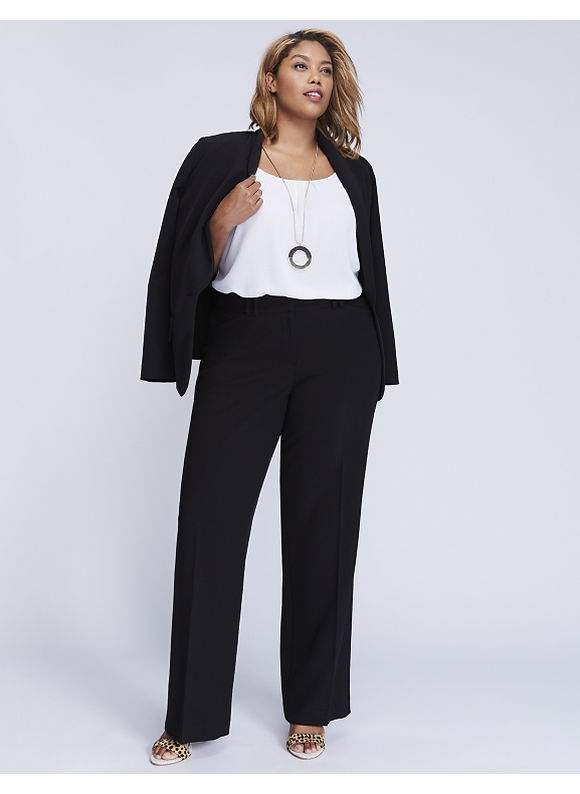 Lane Bryant Plus Size Ashley Tailored Stretch Trouser with T3 Technology, Wom