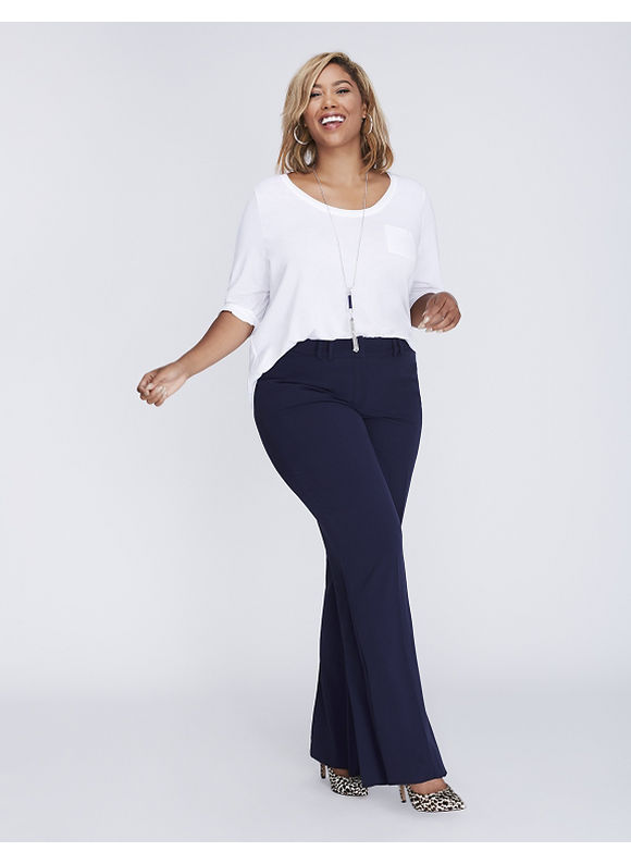 Lane Bryant Plus Size Ashley Tailored Stretch Trouser with T3 Technology,  Women' Size: 18P,  Navy Blue plus size,  plus size fashion plus size appare