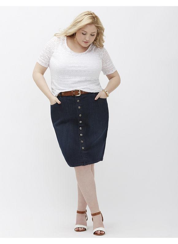 Lane Bryant Plus Size Denim Pencil Skirt,  Women' Size: 14,  Blue plus size,  plus size fashion plus size appare