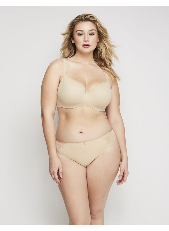 Cacique Plus Size Charmer Wide-Side Thong Panty,  Women' Size: 26/28,  Tan plus size,  plus size fashion plus size appare