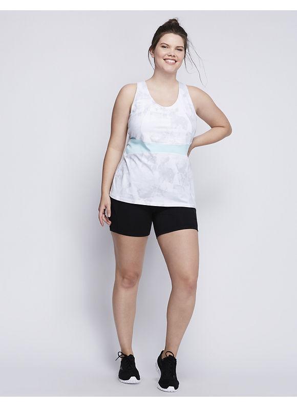 Livi Active Plus Size Signature Stretch Racerback Active Tank,  Women' Size: 14/16,  Cliffhanger plus size,  plus size fashion plus size appare