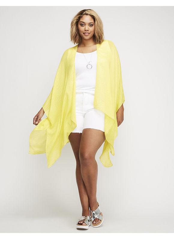 Lane Bryant Kimono with Shine Womens Primrose Yellow $19.57 AT vintagedancer.com