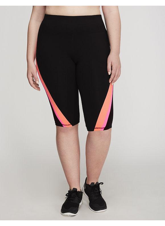 Livi Active Plus Size Signature Stretch Colorblock Active Knee Legging,  Women' Size: 14/16,  Melon plus size,  plus size fashion plus size appare