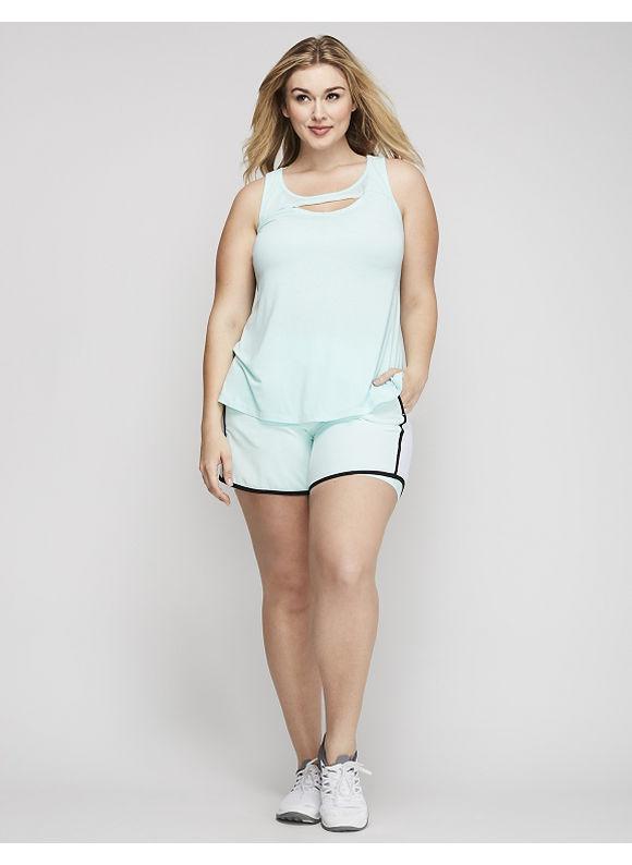 Livi Active Plus Size TruTemp Woven Active Short with Mesh,  Women' Size: 18/20,  Blue plus size,  plus size fashion plus size appare