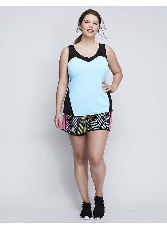 Livi Active Plus Size Cooling Active Tank with Mesh,  Women' Size: 14/16,  Blue plus size,  plus size fashion plus size appare