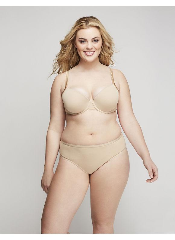 Cacique Plus Size Sassy Cotton Ruched-Back Cheeky Panty,  Women' Size: 18/20,  Tan plus size,  plus size fashion plus size appare