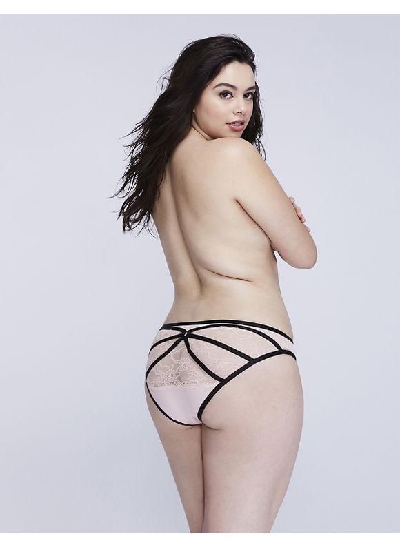 Cacique Plus Size Strappy-Back Bikini Panty,  Women' Size: 22/24,  Evening Sand plus size,  plus size fashion plus size appare