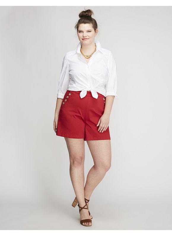 Sailor Short Womens Size 26 Satin Red $59.95 AT vintagedancer.com