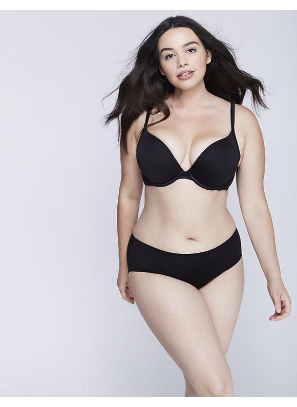 Cacique Plus Size Secret No-Show Hipster Panty,  Women' Size: 12,  Black plus size,  plus size fashion plus size appare