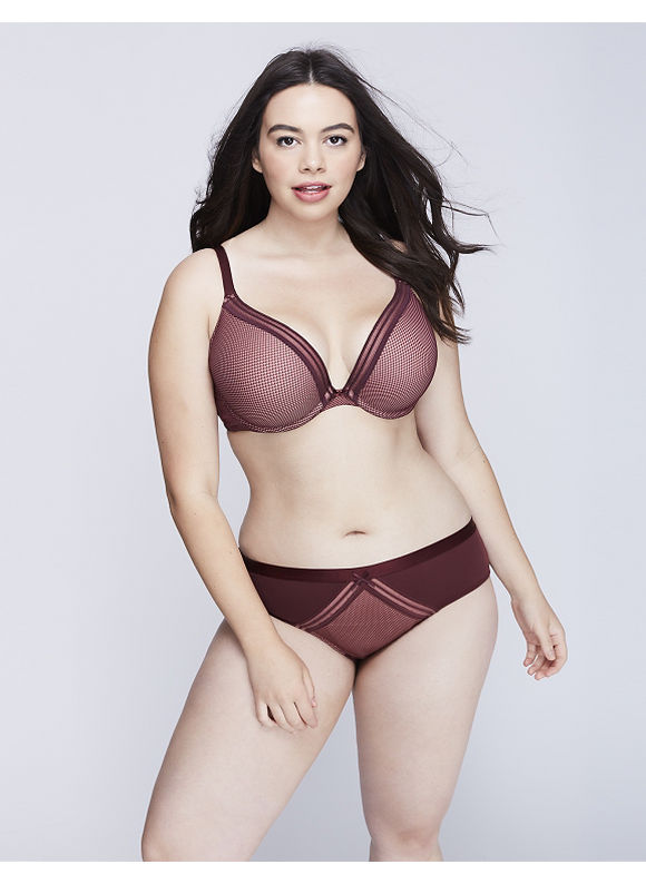 Cacique Plus Size Charmer Hipster Panty with Lace,  Women' Size: 18/20,  Port Royale plus size,  plus size fashion plus size appare